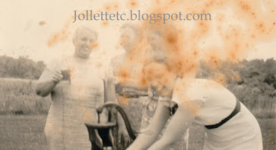 Lillie Killeen and others at water pump http://jollettetc.blogspot.com