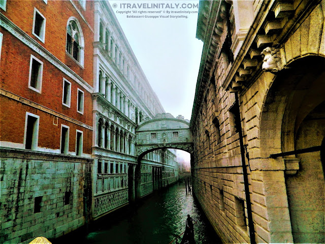 "The Bridge of Sighs Il Ponte dei Sospiri Venezia Copyright ""All rights reserved"" © By itravelinitaly.com Baldassarri Giuseppe Visual Storytelling."