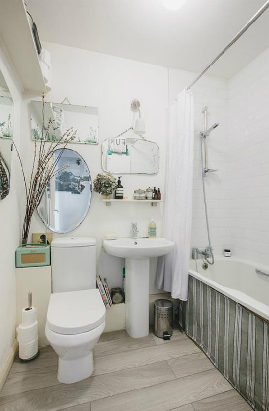banheiro antigo, banheiro velho, cobrir banheira, pano na banheira