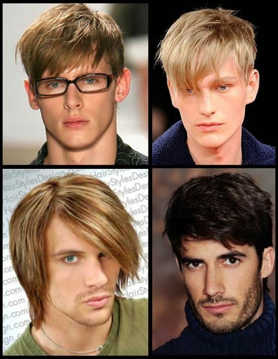 Model rambut pria dengan wajah lonjong