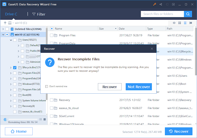 EaseUS Data Recovery Wizard Recover the Files that were Lost
