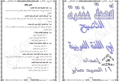أقوي مراجعة نهائية في اللغة العربية الصف الثاني الثانوي 2018