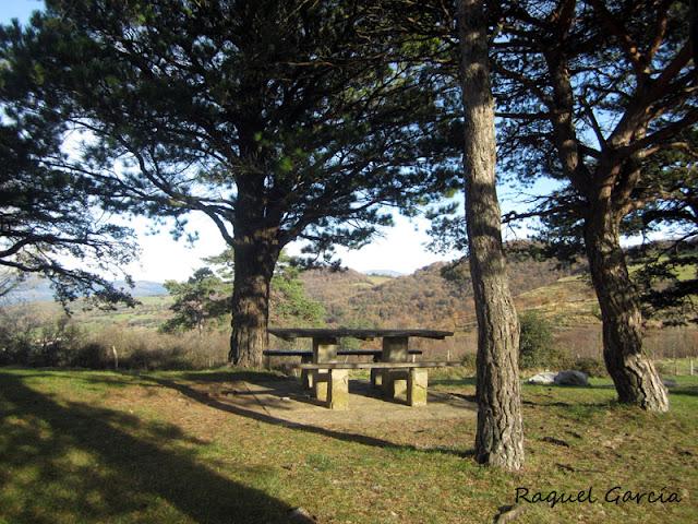 Area recreativa Fuente de la Choza en Orduña (Bizkaia)