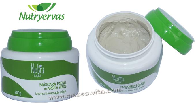 Máscara Facial de Argila Verde Nubra
