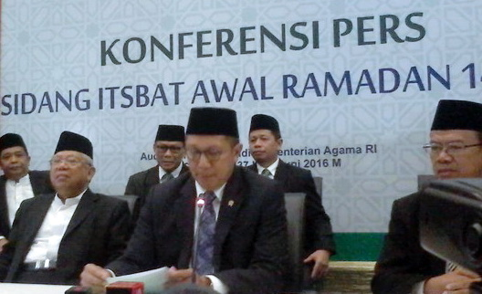 Hasil Sidang Isbat 2016: Hilal Sudah Terlihat, 1 Ramadhan Jatuh Pada Hari Senin 6 Juni 2016