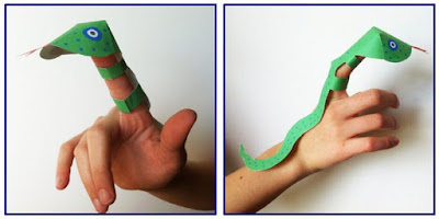 La marionetta del serpente Tuiotù da ritagliare per i bambini