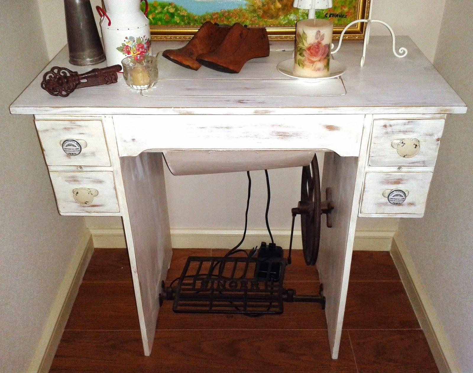 Taller ant 821 restauraci n m quina de coser - Ideas para restaurar muebles ...