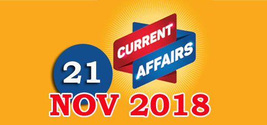 Kerala PSC Daily Malayalam Current Affairs 21 Nov 2018
