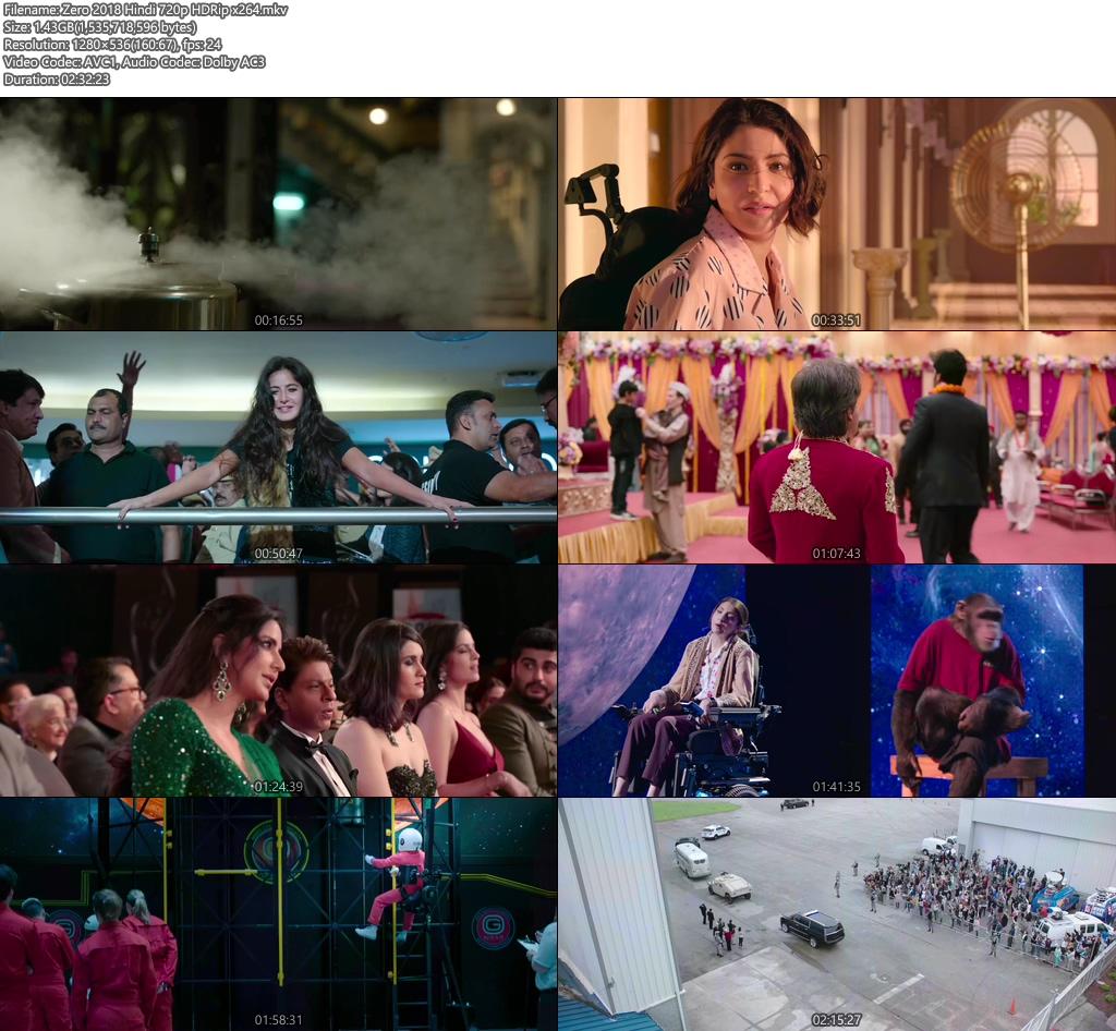 Zero 2018 Hindi 720p HDRip x264 | 480p 300MB | 100MB HEVC Screenshot
