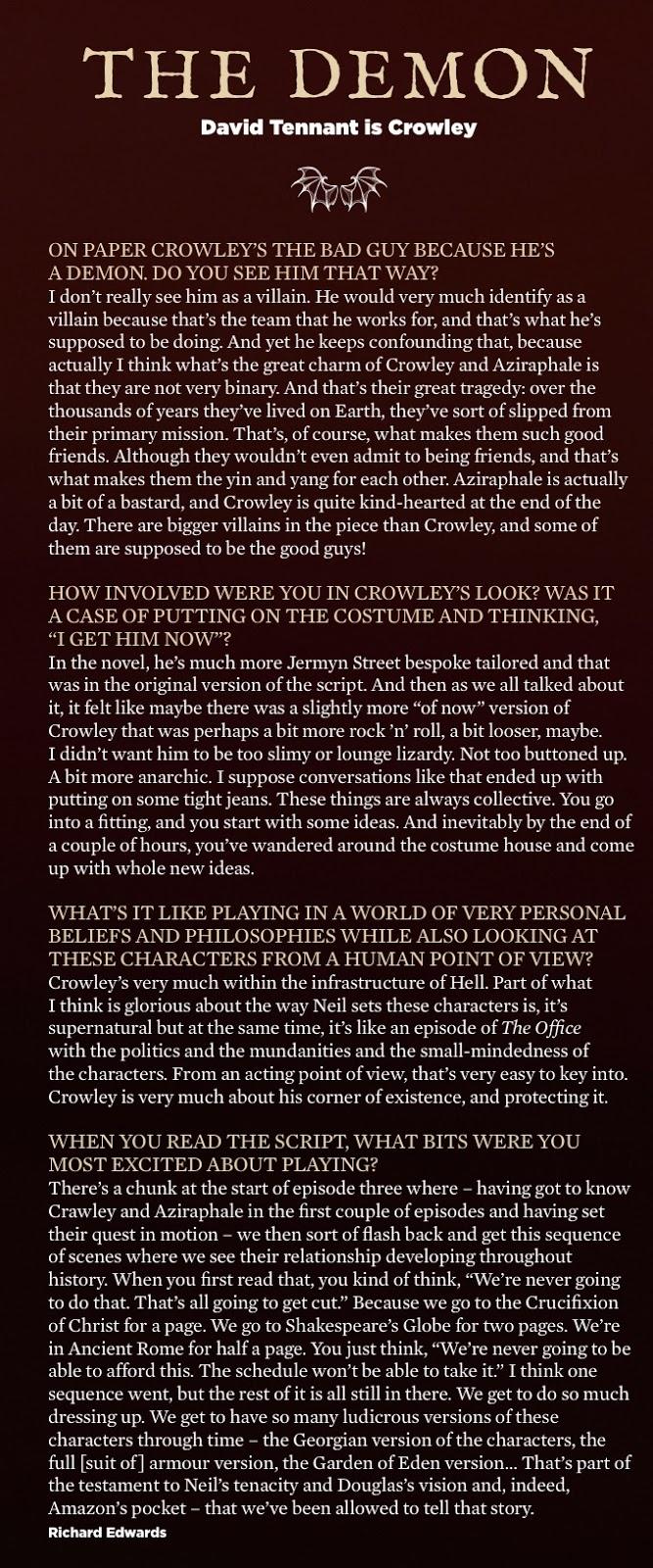 "NEW INTERVIEW: David Tennant Talks Good Omens ""Aziraphale is"