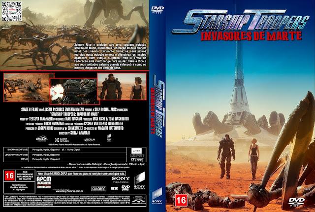 Capa DVD Tropas Estelares Invasores de Marte [Exclusiva]
