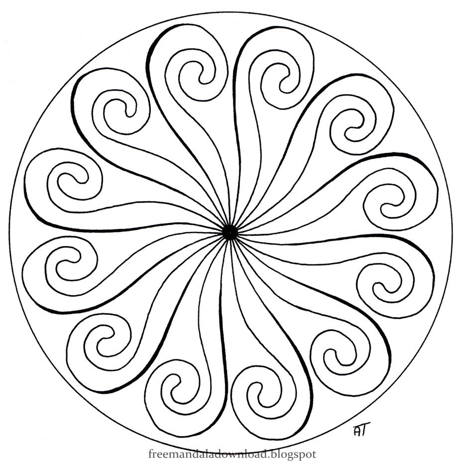 Mandalas Zum Entspannen Mandalas Relaxation Free Mandala