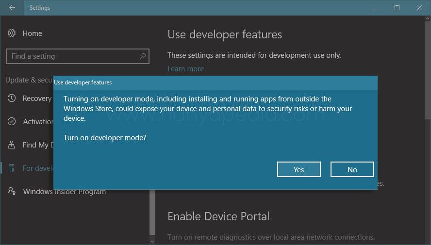 Cara Mudah Mengaktifkan Fitur Developer Mode di Windows 10