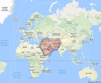 Satelit Yahsat Y1A 52.5°E KUBand