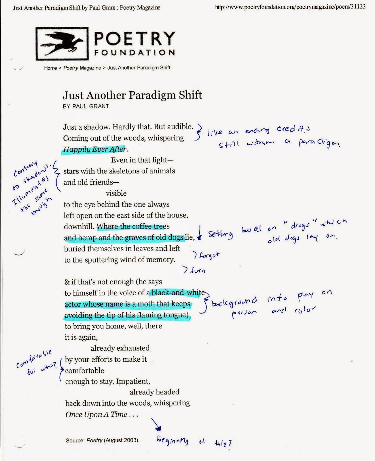 A Paradigm Shift Essay