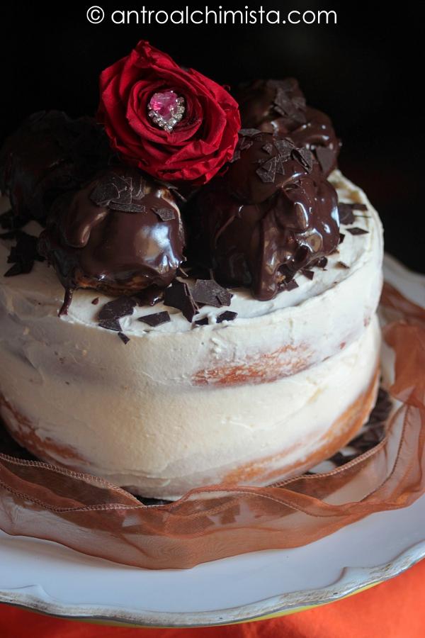 Naked Cake alla Vaniglia con Crema di Panna Montata e Mascarpone