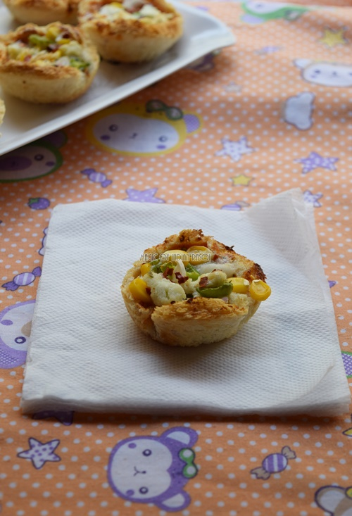 Easy Bread Pizza Cups Recipe- Magic of Indian Rasoi - Priya R