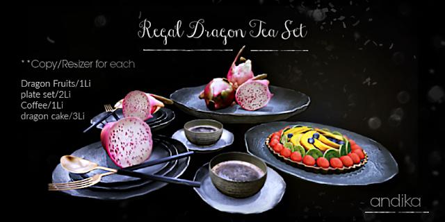 andika[ Regal Dragon Tea Set]