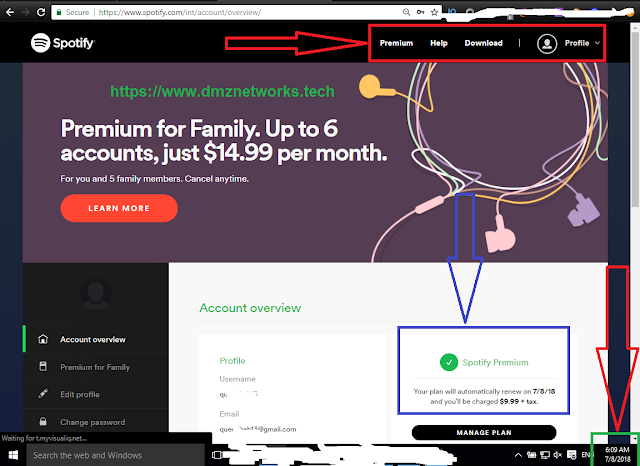 Spotify Premium Accounts by DMZ Networks 100% Working with Proof