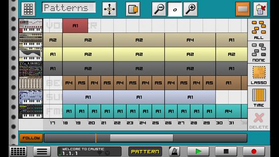 Caustic 3, aplikasi musik