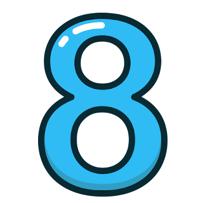 Number 8 PNG High Quality Image