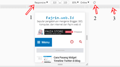 Inspect Element Chrome Dapat Mengecek Responsive Blog Fajrin web Id