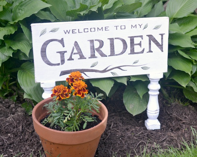 A Garden Sign with Sexy Legs