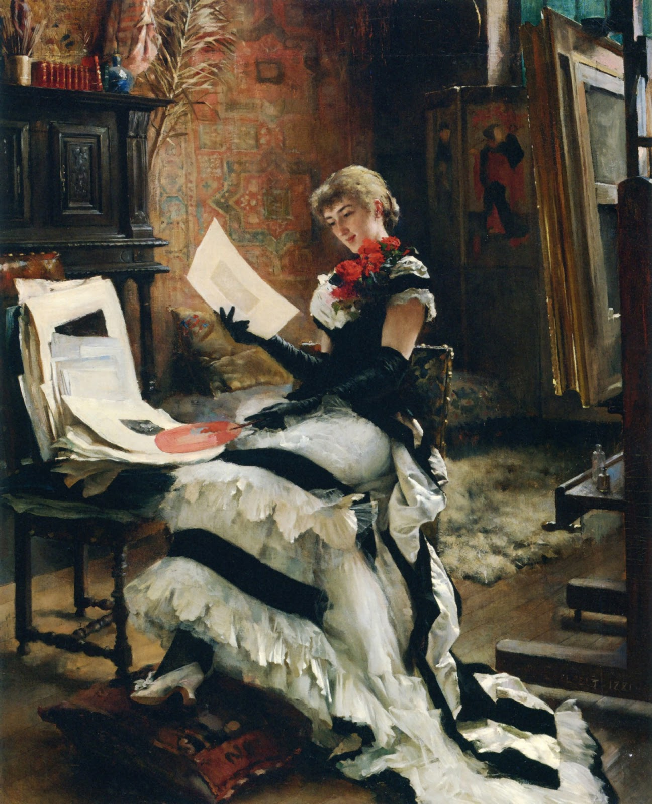 "Finnish Genre Painter ""Albert Gustaf Edelfelt"" (1854-1905)"