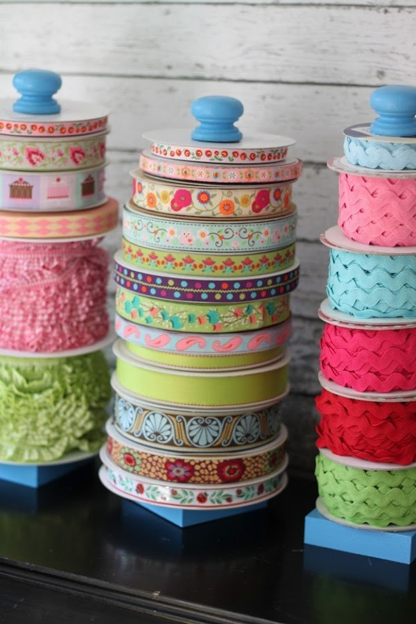 DIY craft ribbon organization