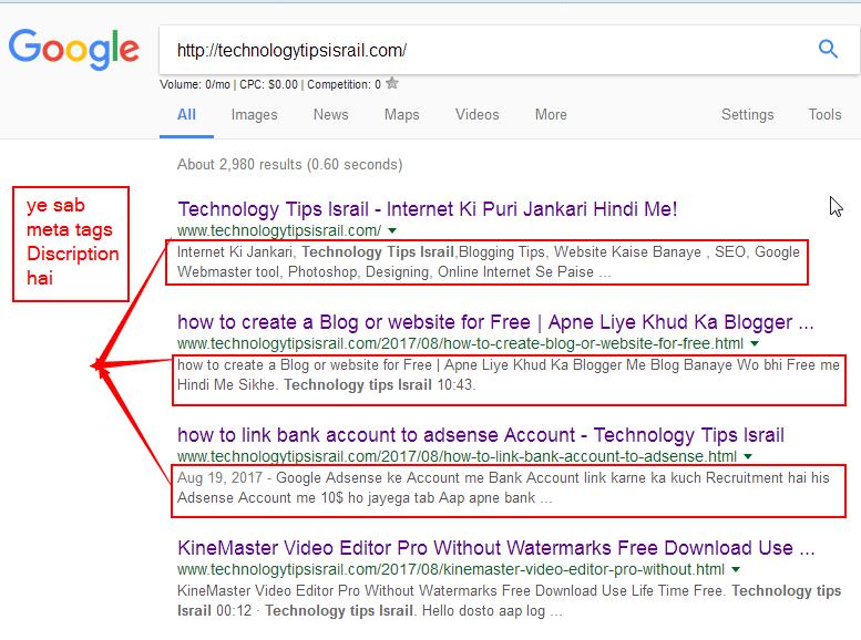 meta tags kiya hai or ham meta tags description ka use apne blog me rh technologytipsisrail com Amazon Meta Tags Choosing Meta Tags