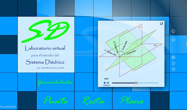 Resultado de imagen de el punto en diedrico lab cuadrado