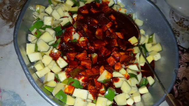 Easy to make Raw Mango Pickle