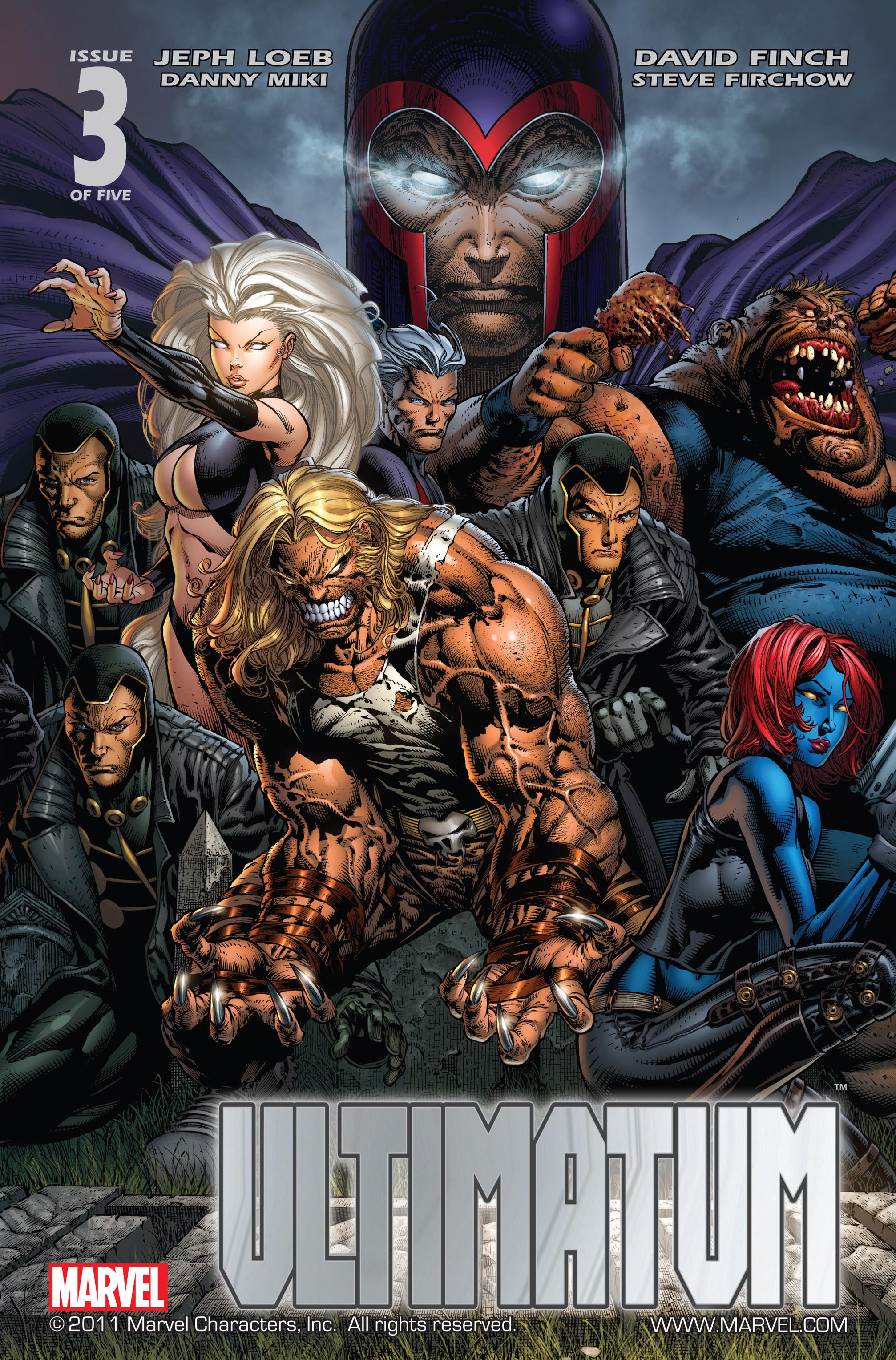 Read online Ultimatum comic -  Issue #3 - 1