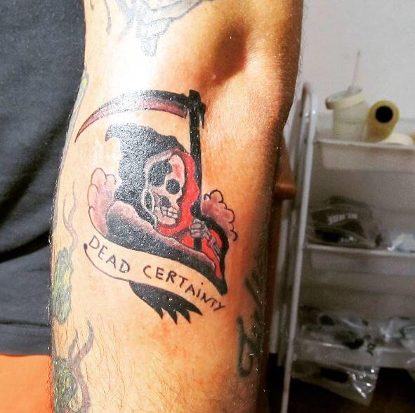 6cb05fcd4 50+ Traditional Grim Reaper Tattoos Designs (2019) | Tattoo Ideas