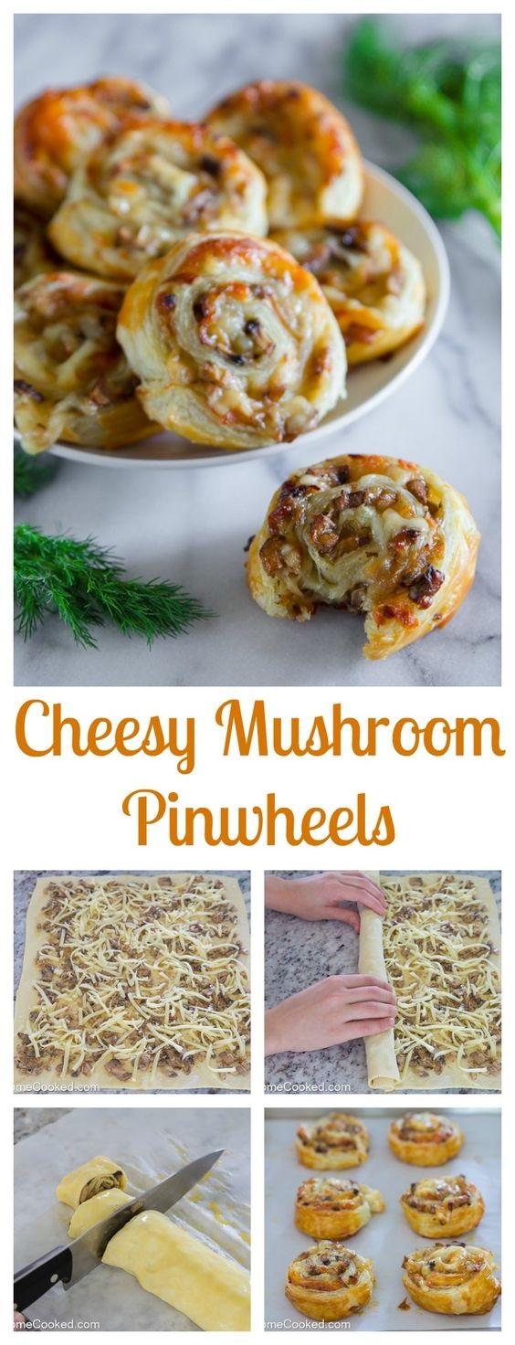 Mushroom Puff Pastry Pinwheels