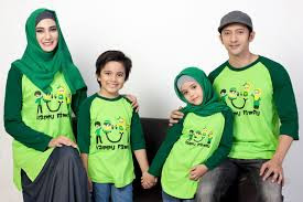 Model Kaos Couple Keluarga Dua Anak Terbaru