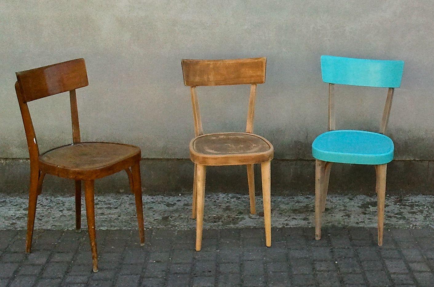 Il piccolo fantamondo restyling di vecchie sedie for Sedie legno colorate