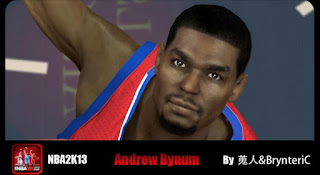 NBA 2K13 Andrew Bynum Cyber Face Patch