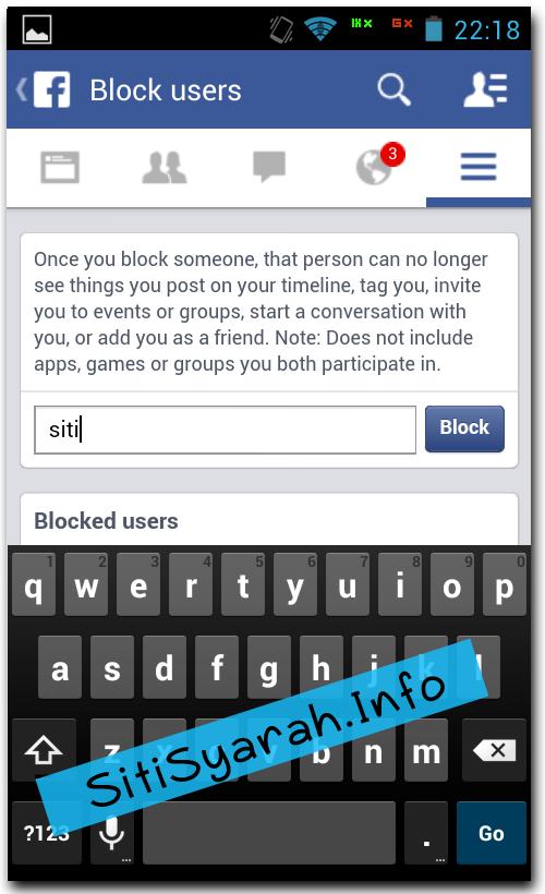 Cara Blokir Teman di Facebook Android