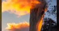 အေမရိကန္ ေရတံခြန္တခုမွ လိေမၼာ္ေရာင္ေရမ်ား စီးက် (႐ုပ္သံ)