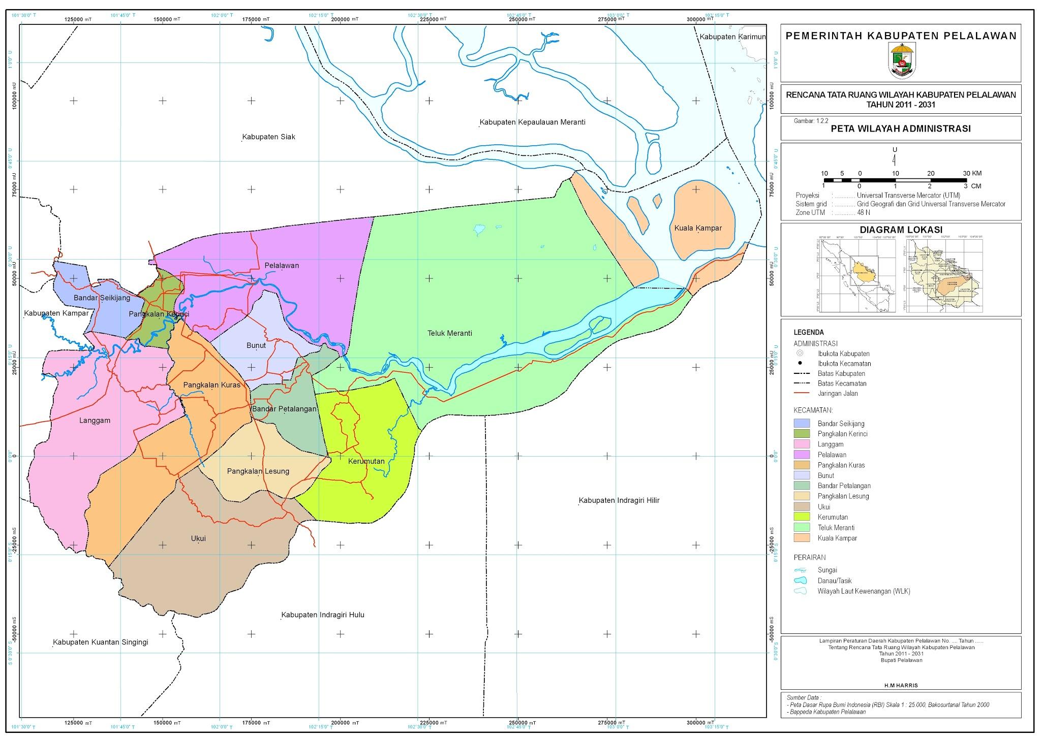 Peta Kota: Peta Kabupaten Pelalawan