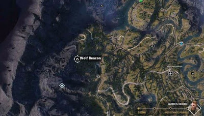Far Cry 5, Wolf Beacon Locations, West of Jacob's Region, Call of the Wild