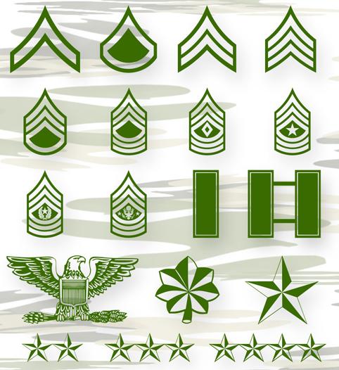 تحميل أشكال الرتب العسكرية للفوتوشوب مجاناً ,Military Position Photoshop shapes free download