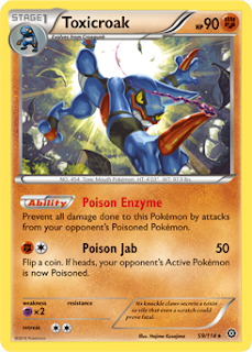 Toxicroak Steam Siege Pokemon Card