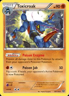Toxicroak Steam Siege Pokemon Card