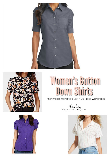 Women's Button Down Shirts (Minimalist Wardrobe List: A 36 Piece Wardrobe)