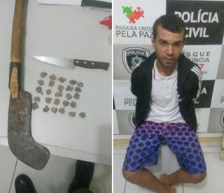 Policiais do 9° BPM desarticulam boca de fumo em Baraúna
