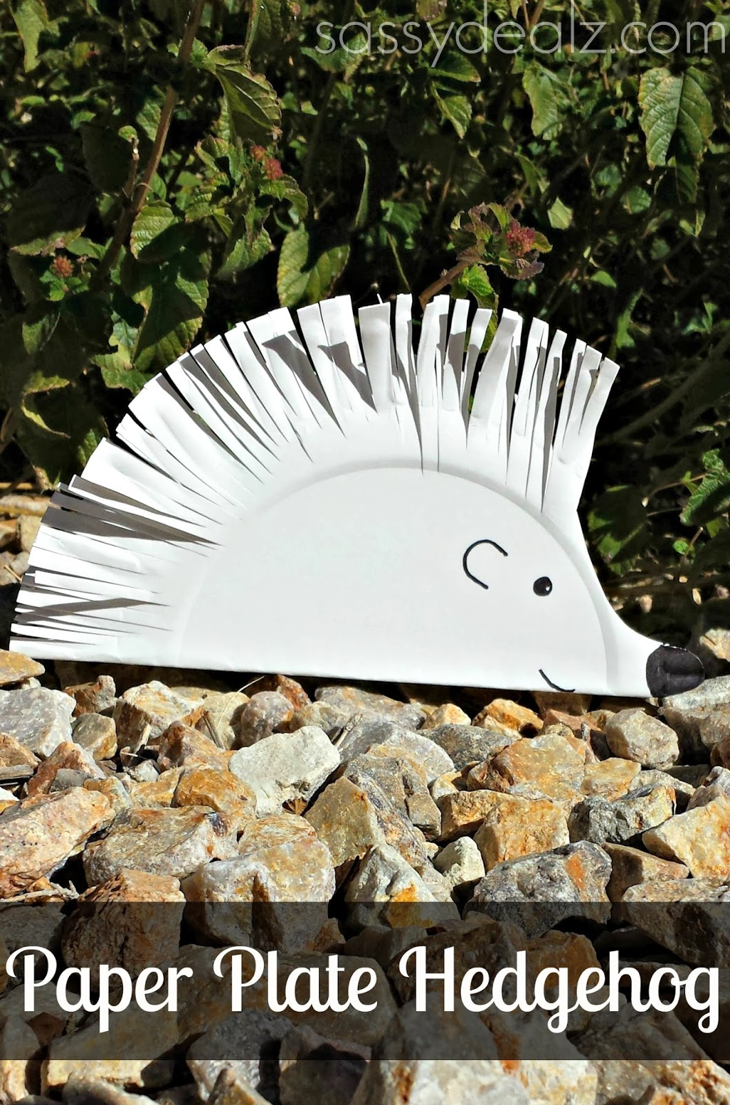 paper plate hedgehog craft - photo #7
