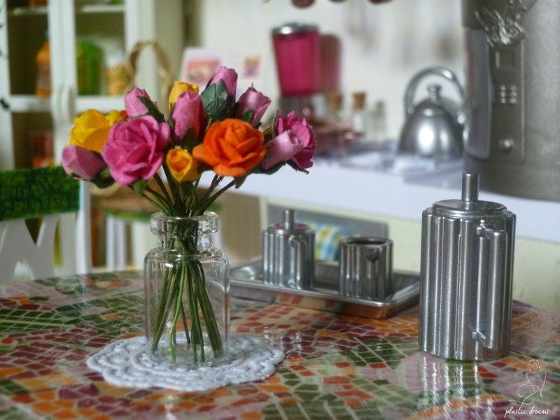 diorama cuisine Barbie