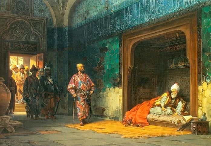 Bayezid held by Timurlane